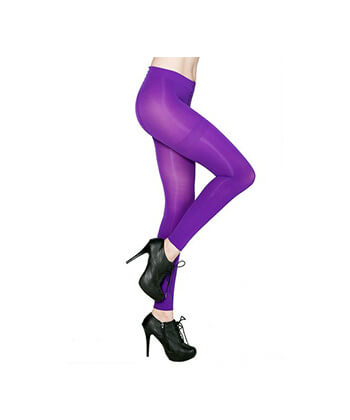 Lilac Footless Tights-167Sd-Women