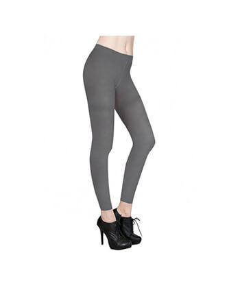Grey Footless Tights-167Sd-Women