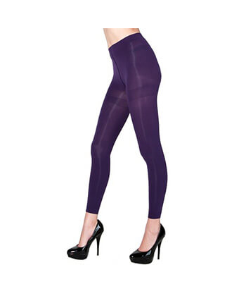 Purple Footless Tights-167Sd-Women