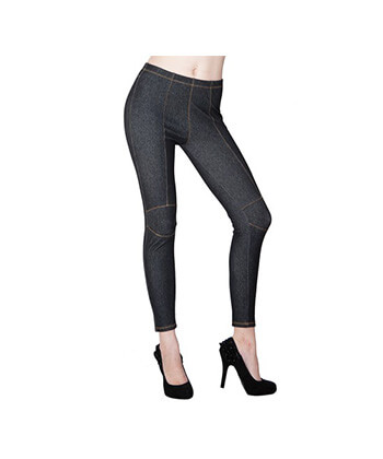 Jegging With Contrast Stitching At The Knees-827Jn015-Women