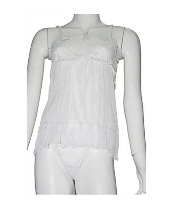 Sefon White Baby Doll X- Large -Women