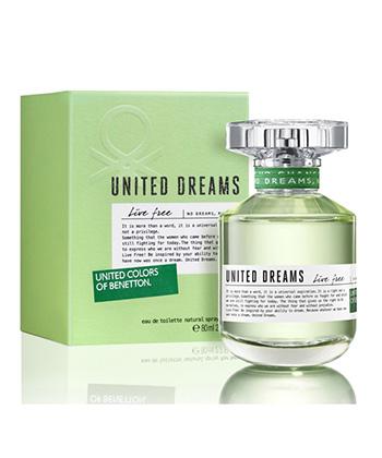 Benetton United Dreams Live Free Edt 75ML-Women