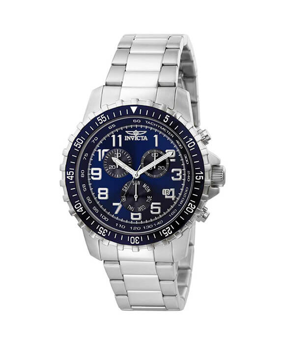 INVICTA 6621 MENS II STAINLESS STEEL BLUE AND BLACK CHORNOGRAPH WATCH