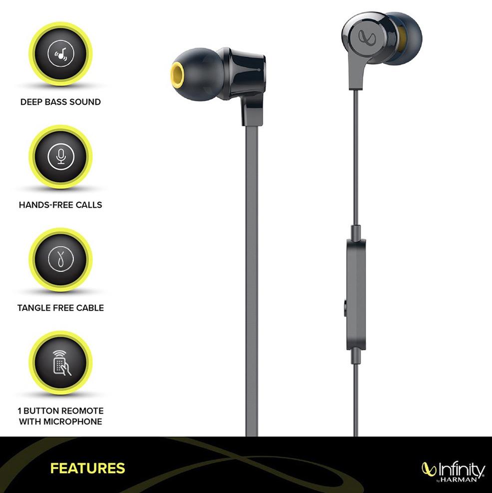 Infinity By Harman Wynd 300 Black Wired In Ear Headphone