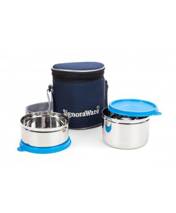 Signoraware Executive Steel Small Lunch Box