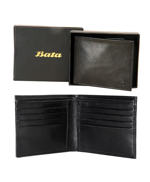 Bata Classic PU-Black-961-6011 Wallet