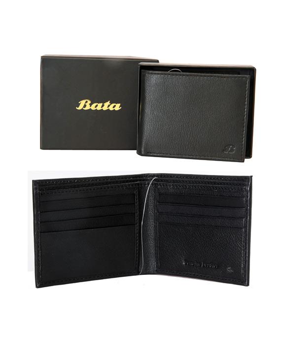 Bata Black-934-6032 Leather Wallet