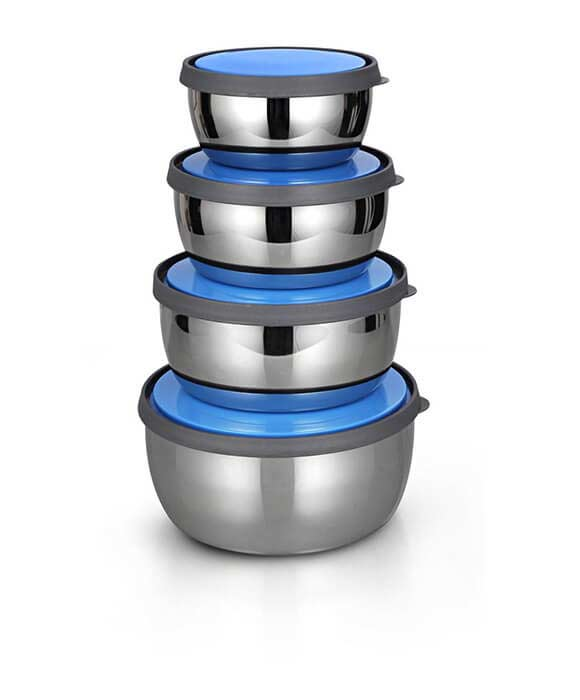 Set Of 4 Stainless Steel Bowl Set