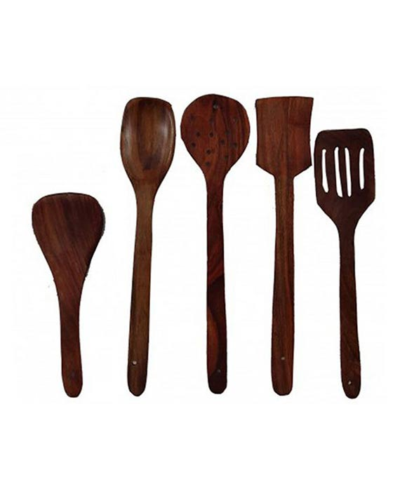 Hand Made Wooden Spatula Set of 5