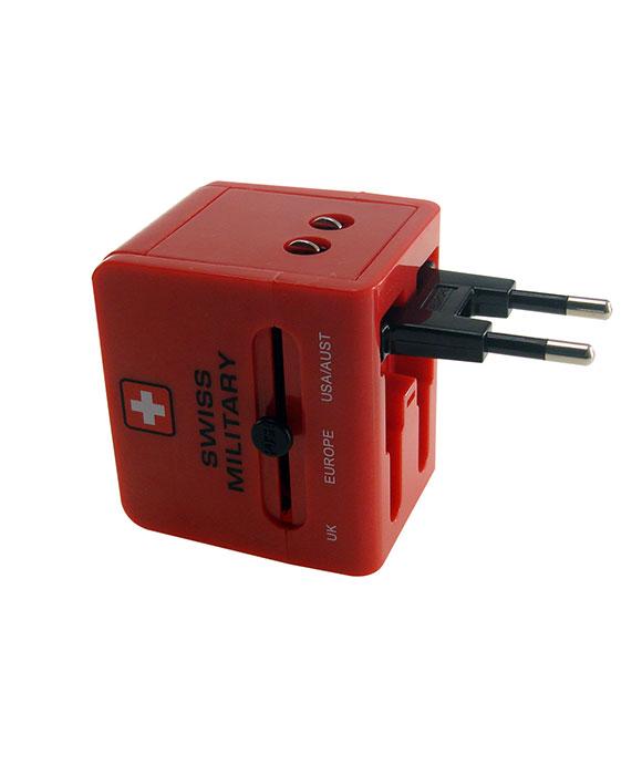 Swiss Military Travel Plug With USB UAM5
