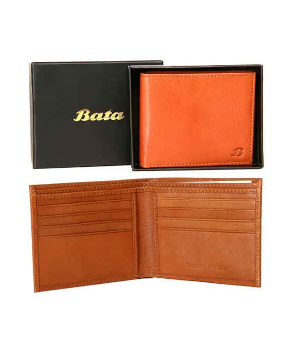 Bata Tan-934-3032 Leather Wallet