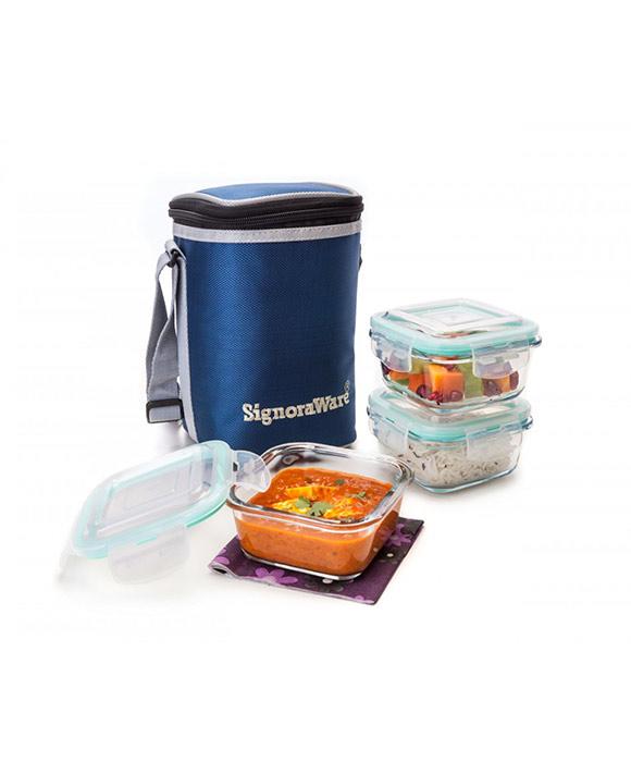 Signoraware Director Glass Lunch Box ...